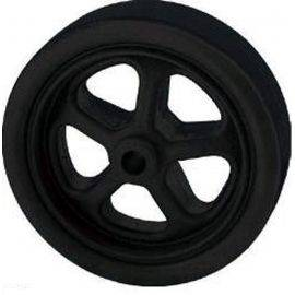 Trailer Jack Wheel - Black Nylon