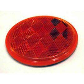 Stick-On Round Red Reflector