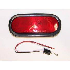 Sealed Oval Red Tail Light