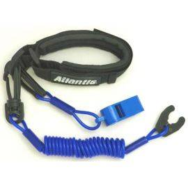 Pro Wrist Lanyard With Whistle Dark Blue