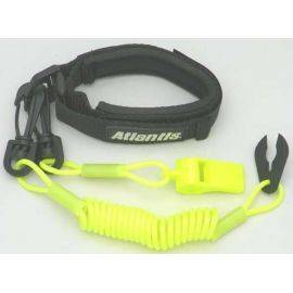 Pro Wrist Lanyard With Whistle Neon Yellow