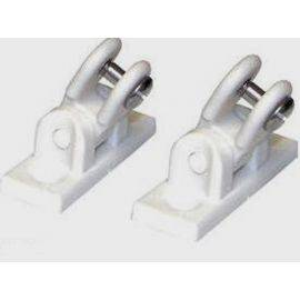 Deck Mount Pivot - White Pair
