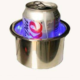 LED Stainless Steel Drink Holder with Lighted Bottom