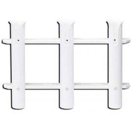 Rod Holder 3-Rack - White Nylon