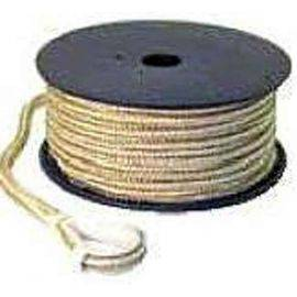 Double Braided Nylon 100' Anchor Line with Hook Gold & White