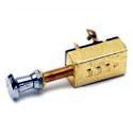Push / Pull Switch 3 Position Brass