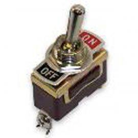 Toggle Switch Brass On / Off - 2 Terminal