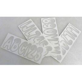 ID Sticker Kit 200 Series White / Silver