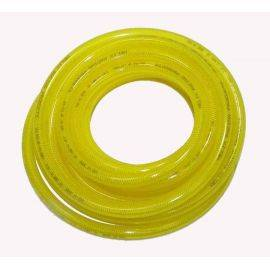 3/8 inch X 25' Polyeurethane Braided Hose - Yellow