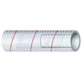 1 inch PVC Hose - Red Tracer (Per FT)