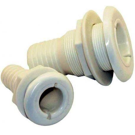 Thru-Hull Fitting - White Nylon