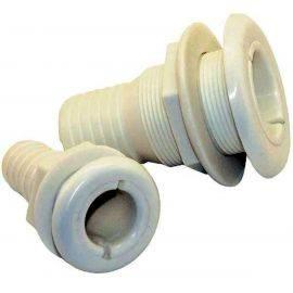 thru-skrovet - vit nylon