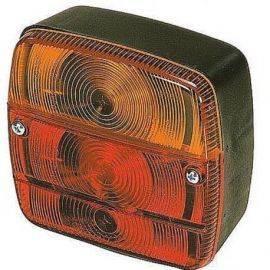 Baglygte højre/venstre 119x102x51mm, m/nummerplade lys