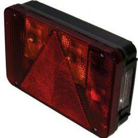 Baglygte venstre m/nummerplade lys 220x140x30mm