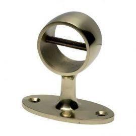 Gelænder holder messing til tov Ø 38mm, højde 78 mm