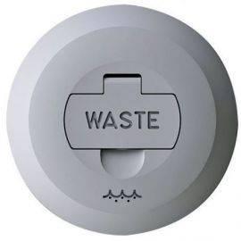 Låg med lås til dækspåfyldning waste