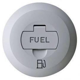 Låg med lås til dækspåfyldning fuel