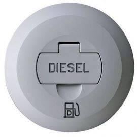 Låg med lås til dækspåfyldning diesel
