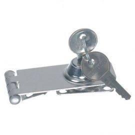 Låseoverfald m/nøgle 74x30mm rustfrit stål