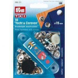Trykknapper RF med skruer. 10stkø15mm med værktøj