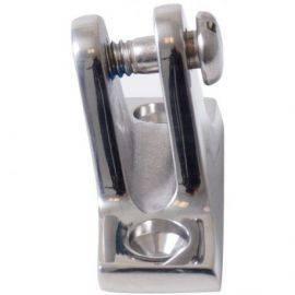 Kaleche vinklet gaffel dæksbeslag med ø5mm bolt, aisi316
