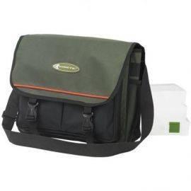 Kinetic fiske taske grøn med 3 bokse 36x25x12cm