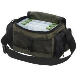 Kinetic Tackle fiske taske med 3 bokse Green 40x20x20cm