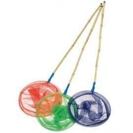 Kinetic Junior fiskenet Bambus ass. (Rød,Grøn,Blå)
