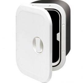 Indbygn.boks hvid m/luge 37.5x28x17.5cm