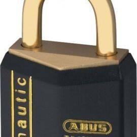 Abus hængelås massiv messing 2stk samme nøgle 40mm
