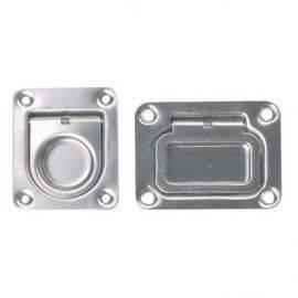 Dørkring m-fjeder 66x56mm dybde 12mm rustfrit stål