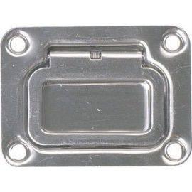 Dørkring m/fjeder 75x57mm dybde 13mm rustfrit stål