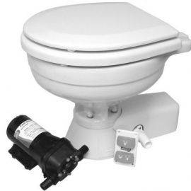 Jabsco quiet flush compact el-toilet 24v saltvand