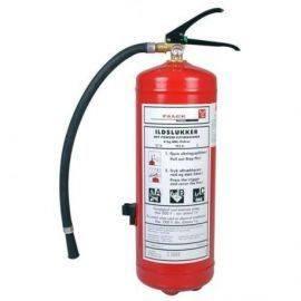 Falck ildslukker 6 kgabc pulverslukker med beslag solas godkendt