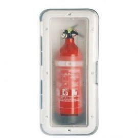 Nuova rade hvid 2 kg ildslukker beholder med transperant dør