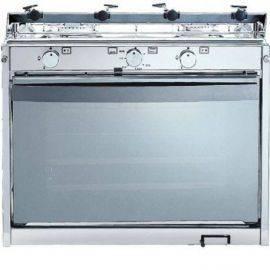 Gaskomfur techimpex mariner 2 m- 2 blus-tænding-grill - 48cm