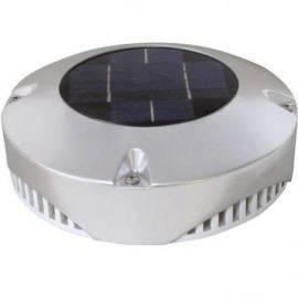 Solcelle ventilation rustfrit stål 24 timer ø20cm m-batteri