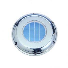 Solcelle ventilator RF med batteri og kontakt