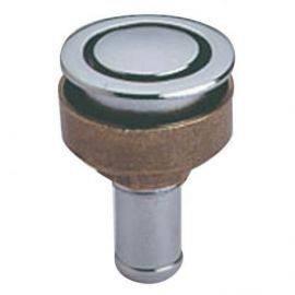 Tankudluftning forkromet messeing til plan montering 16mm