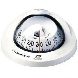 Offshore 75 flush kompas hvid 12v