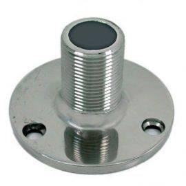 Antennebeslag rustfri dæksmonteret 1 gevindø70mm højde 41mm