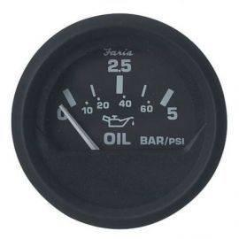 Olietryksmåler  5 bar sort