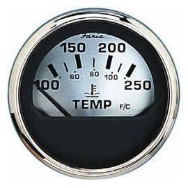 Faria termometer 40-120c. ø 53 - spunsilver