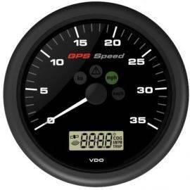 Vdo gps speed 0-12knob 12v med lcd display sort ø110mm