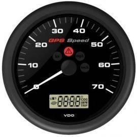 Vdo gps speed 0-70knob 12v med lcd display sort ø110mm