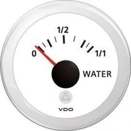 Vdo tankmåler vand, hvid ø52mm, 4-20ma