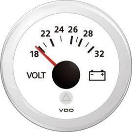Vdo voltmeter 12v hvid ø52mm