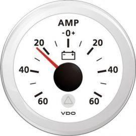 Vdo amp.meter 60a, hvid ø52mm