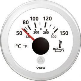 Vdo temperatur olie hvid ø52mm