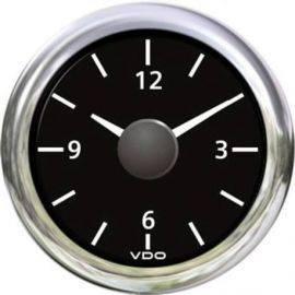Vdo ur 12v sort ø52mm